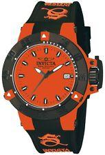 New Ladies Invicta 10129 Noma Swiss Quartz Orange Dial Black Strap Date Watch