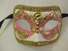 Venetian mask ~ Pink, cream and gold ~ Masqurade ~ Ball ~ NEW ~ 121/5PK
