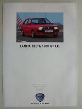Prospectus LANCIA DELTA 1600 GT ui, 9.1991, 6 pages, folder
