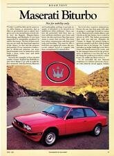 maserati biturbo fuel sending units 1984 maserati biturbo coupe road test technical data article