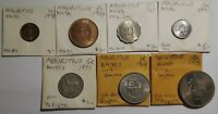 Mauritius 7pc Coin Lot 1964-1978 scarce mintages!