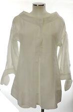 Piazza Sempione Bluse weiß 40 (I) 36 (D) bamboo Tunika blouse