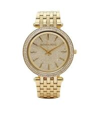 Michael Kors MK3438 Darci Glitz Gold-Tone Stainless Steel Bracelet Womens Watch