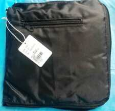 Black collapsible carry on luggage bag foldable