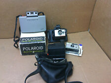3 Polaroid cameras, 1 Kodak  and  1 Polaroid(promotional)  transistor radio