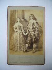 "Photo, tirage albuminé: ""Les enfants du roi Charles I - A.van Dyck"" ~1880 RARE !"