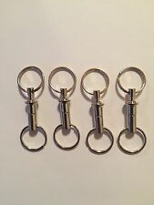 4 Detachable Pull Apart Quick Release Keychain Key Rings