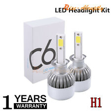 1 Pair 38W 7200LM COB H1 C6 Car LED Headlight Bulb Conversion kit 6000K White