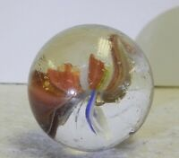#12066m Beautiful Vintage Foreign Sparkler Shooter Marble 1.10 Inches