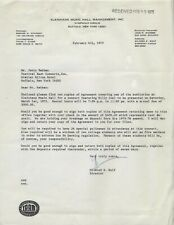 1975 BILLY JOEL VINTAGE LETTER KLEINHAMS MUSIC HALL BUFFALO, NEW YORK MARCH 1ST
