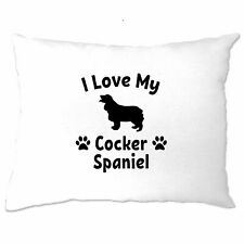 Dog Owner Pillow Case I Love My Cocker Spaniel Pet Lover Cute Breed