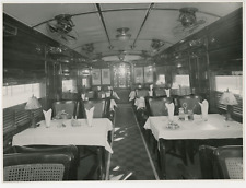 1960, wagon-restaurant  Vintage silver print Tirage argentique  16x21  C