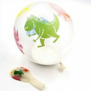 10Pcs Dinosaur Balloons Kids Toys Transparent Party Supplies Latex Decoration