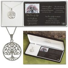 """Tree of Life Necklace, Silver Plated on 18"""" Chain by Dicksons"""