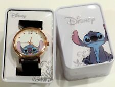 New Disney Lilo And Stitch Nerd Glasses Space Alien Hawaii Rose gold Watch & Tin