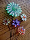 Vintage+1960%27s+LUCITE+Flowers+on+Wire+Stems%2C+Retro+Mid+Century-+Lot+of+5+++%232