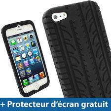 Noir Pneu Étui Housse Silicone Gel Case pour Nouveau Apple iPhone 5 5S 5C SE