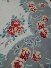 Vintage Tablecloth Wilendur Rose Red Gray 49 by 53