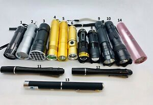 HUGE SELECTION OF ULTRAVIOLET TORCHES,UV TORCHES,UV GLUE CURING 365NM -395NM