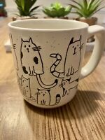 Crazy Cats Stoneware Adorable Coffee Tea Mug New With Tags! Cat Lover Cat Lady