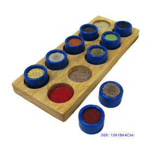TOUCH and MATCH Matching WOODEN Educational Sensory PRESCHOOL Learning TOY GAME