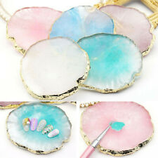 1pc Nail Art Resin Agate Palette Multifunction Gel Nail Polish Display Stand