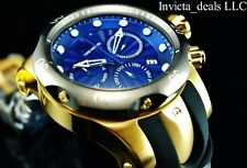 NEW Invicta Men's 52mm MALICE Venom Swiss Chronograph Blue Dial 18K GP SS Watch