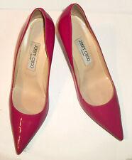 Jimmy Choo Fuschia-Patent Classic High-Heel Pointy Toe Pumps 39M 9M $695 EUC