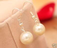 Handmade white Pearl Earrings for Women 10mm