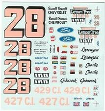 #28 Lemon Tree Inn 1972 Ford Chevy Fred Charlie Decals