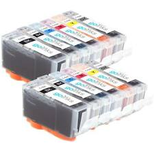 12 Ink Cartridges (Set) to replace Canon PGI-520 & CLI-521 Compatible for PIXMA