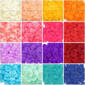 Silk Rose Petals - Wedding Birthday Celebration Decoration Confetti - UK Seller