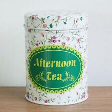 Retro Flower Afternoon Tea Home Kitchen Coffee Tea Can Container Jar Tin Metal