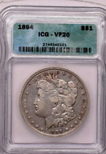 1894 $1 Morgan Dollar ICG VF 20 Key Date!