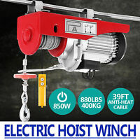 400KG Electric Hoist Winch Lifting Engine Crane Overhead Remote Control Gantry