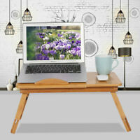 NEW Deluxe Bamboo Laptop Portable Bed Desk Table Foldable Workstation Tray OZ