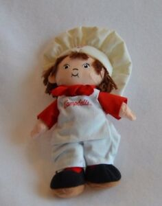 Campbell Soup Plush Doll Boy With Brown Hair New