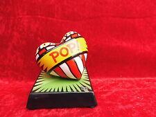 3 schöne Porzellanskulptur__Burton Morris__Love Pop Green__Herz__Goebel___!
