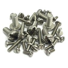 M2 M3 M4 A2 Stainless Steel Machine Screws - Slotted Pan Head Bolts DIN85