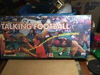Vintage 1972 Mattel Talking Football Board Game Hear it Happening - Not Working