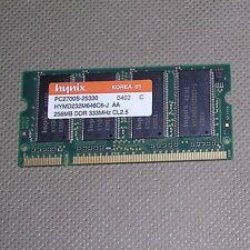Hynix 256MB RAM HYMD232M646C6-J AA. PC2700S-25330 200-PIN DDR 333MHz CL2.5 WORKS