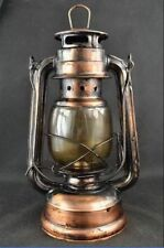 Chinese Collectibles ancient Decorated Handwork Copper Glass Usable Oil Lamp
