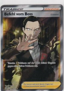 Pokemon Card SWSH02 Clash Rebels No. 189/192 Command by The Boss German