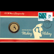2012 $5 Australian Open 100th Mens Championship PNC Coin & Stamp Cover Ltd Ed