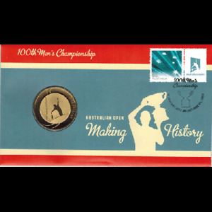 New2012 $5 Australian Open 100th Mens Championship PNC Coin & Stamp Cover Ltd Ed