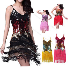1920's Gatsby Dress Sequin Costume Tassel Flapper Latin 20s Fancy Outfit FN1529