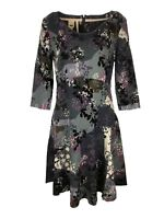 Ex White Stuff Ladies Nightingale Abstract Floral Print Dress Size 8 - 18