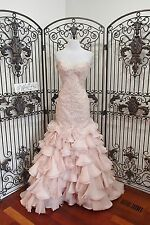 V340 Stunning  MAGGIE SOTTERO SERENCIA BLUSH SZ 6 $2198 WEDDING DRESS  GOWN NWT