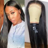 Glueless Full Lace Front Wig 100% Virgin Indian Human Hair Wigs Pre Plucked 7Zxg