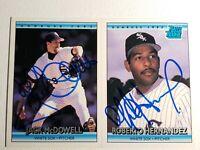 1992 Donruss White Sox Auto Lot Autograph Card Signed Jack McDowell Hernandez